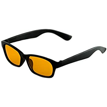 c8933792cf390 Blue Light Blocking Computer Glasses by Hack Your Sleep - Amber Tinted Lens  Blocks Blue and UV Rays - Prevent Digital Eye Strain - Gaming Glasses -  Reading ...