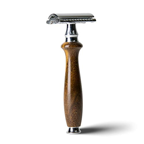 Artisan Form Wooden Single Blade Safety Razor, Double Edge for Close Shave, Rosewood