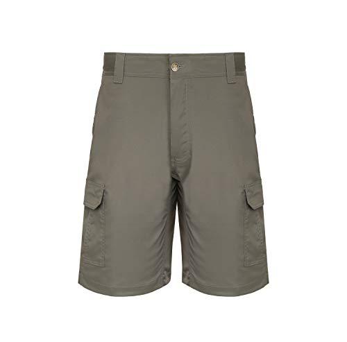 (LA Police Gear Men Elastic Waistband 8 Pocket Operator Tactical Shorts, Sierra-34)