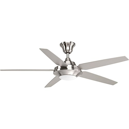Progress Lighting P2539-0930K Signature Plus II Collection 54 LED 5 Blade Fan, Brushed Nickel