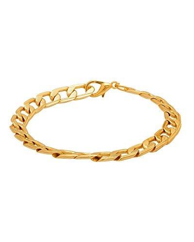 64c5afb9884dd Dare by Voylla Fashion Gold Brass Bracelet for Men: Amazon.in: Jewellery