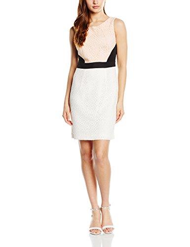 Wolf & Whistle Lace Colour Block, Vestido para Mujer Marfil (Cream)