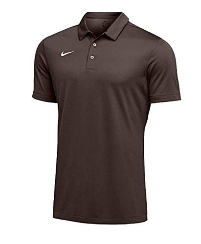 Nike Mens Dri-FIT Short Sleeve Polo Shirt (Medium, Dark Brown)