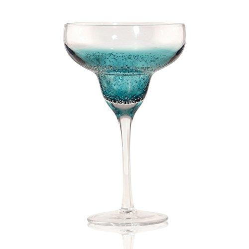 (Viridian Bay Deep Sea Margarita Glass Set of 4)