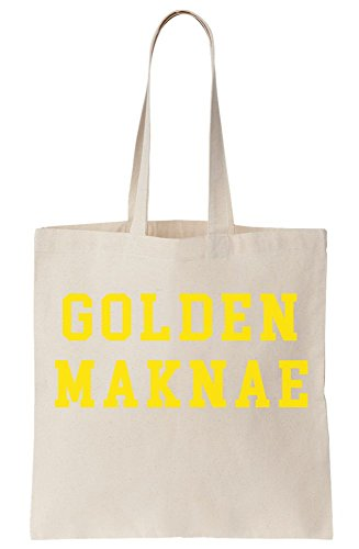 Canvas Tote Maknae Bag Golden Golden Maknae q1ZwtIO