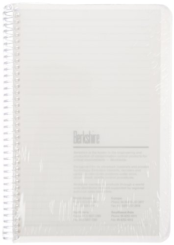 Berkshire BCR College Rule Spiral Notebook, 5-1/2'' x 8-1/2'' (Case of 20 Packs) by Berkshire