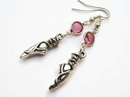 Ballet Shoes Birthstone Earrings, Personalized Ballet Earrings, Athletic Earrings, Ballerina Jewelry, Dance Jewelry