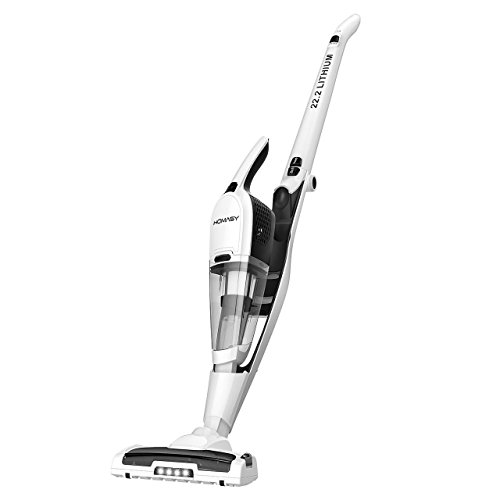 Homasy Vacuum Cleaner, 2-in-1 Cordless Vacuum Cleaner,Lightweight Stick and High-power Long-last ...