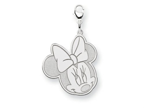 Disney Minnie Lobster Clasp Charm Sterling Silver