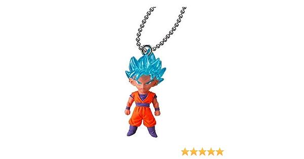 Bandai Dragon Ball Z Super UDM Best 33 Keychain Gashapon Figure SSGSS Goku 5 pcs