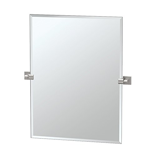 Gatco 4079S Elevate Frameless Rectangle Mirror, Satin Nickel, -