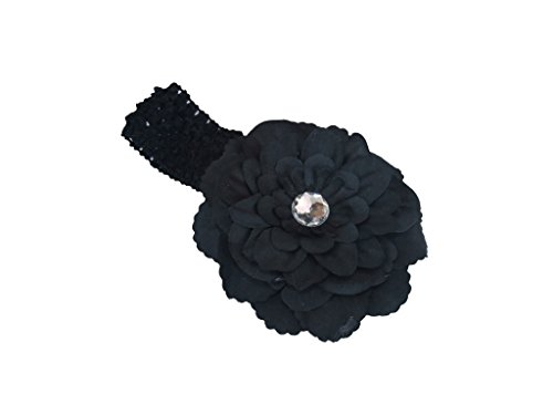 Fantastic New Born Hair Clip,Dealzip Inc Born Hair Clip Cute Newborn Baby Girls Toddler Hairband Accessories Black Peony Flower Hair Clips with Crochet Headbands (Peony Black Crochet)