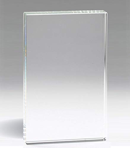 - Awards and Gifts R Us Customizable 7 Inch Height Rectagular Optical Crystal Desk Block Award, Includes Personalization