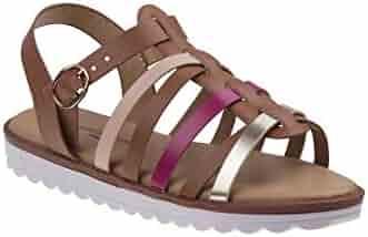 a97a5e41c46fb Nanette Lepore Girls Tan Multi Gladiator Style Buckle Sandals 11-4 Kids