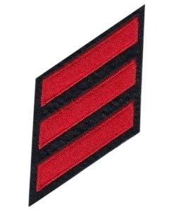 Uniform Service Hash Marks - CHP Red/Midnight Navy,2 x 3/8