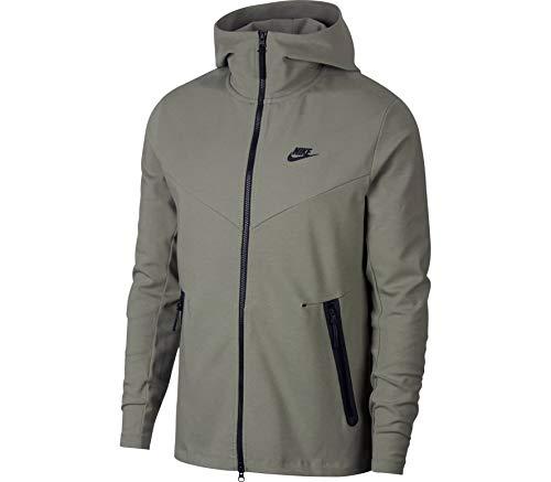 Nike Mens Tech Fleece Pack Full Zip Training Hoodie Dark Stucco/Black AA3784-004 Size Medium