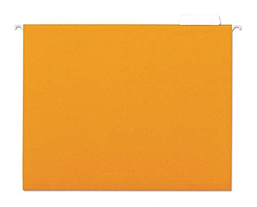 Universal One UNV14122 - Hanging File Folders Orange PK25 Pack of 2