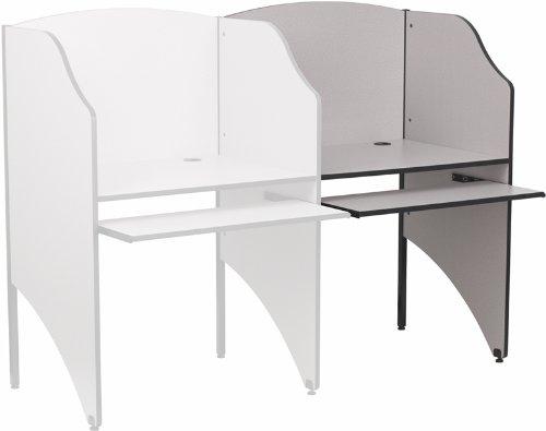 (Flash Furniture Add-On Study Carrel in Nebula Grey Finish)