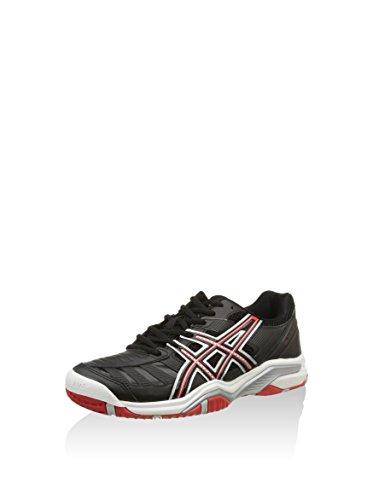 Tennis Da Eu us rosso challenger Nero Scarpa Gel 10 5 9 argento 5 Asics 44 E1Wq5nW