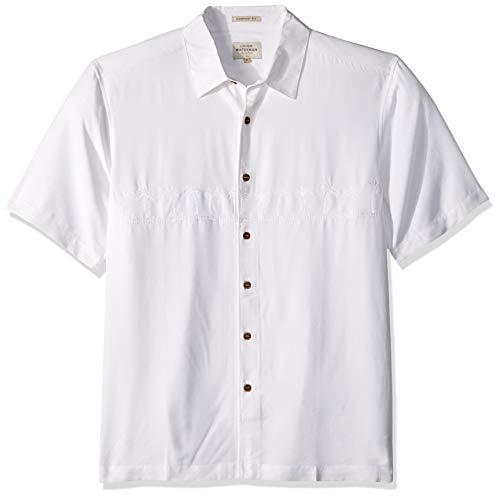 (Quiksilver Waterman Men's Tahiti Palms 4 Woven Shirt, White, Medium(M))