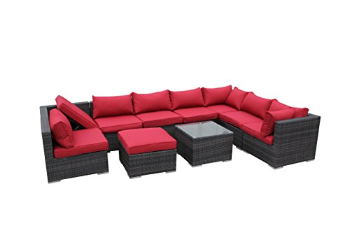 SMU PE Rattan Poolside Furniture Sofa Sets with Day Bed Back price