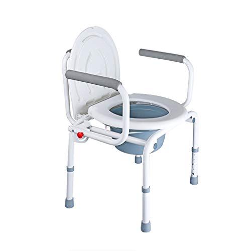 NJ Silla de baño- Hogar móvil Viejo Inodoro discapacitado Plegable Mujeres Embarazadas Asiento de Inodoro Viejo Asiento de...