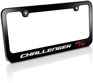 Auggies R//T RT Challenger Durango Charger Black Red Stainless Steel Black License Plate Frame Cover Holder Rust Free with Caps and Screws 1
