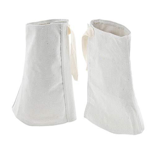 À L'usure 24cm 1 Tésistante De éclaboussure Protection Anti Isolation Paire Guêtres Blanc Thermique Flameer Jaune fzq8wASS