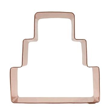 Amazon.com: Three Tier Wedding Cake Copper Cookie Cutter: Kitchen U0026 Dining