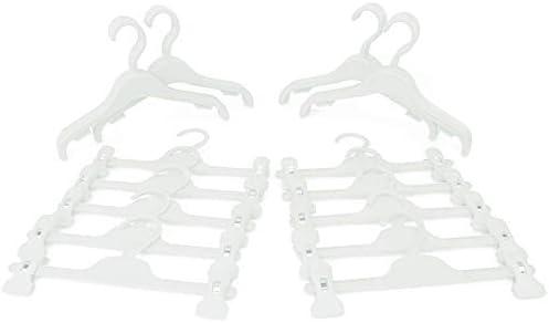HANGERWORLD 30 Bright Pink Childrens 30cm Plastic Baby Clothes Coat Skirt 10 Clip 20 Top Hangers