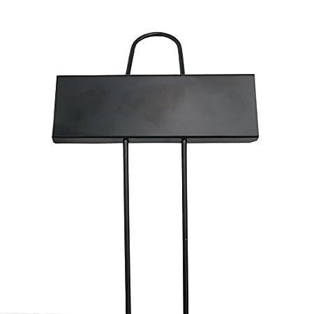 KINGLAKE 10 Stück Metall Pflanzenschilder Schwarz Pflanzenschilder Beschriften Stecketiketten für Pflanzen im Garten …