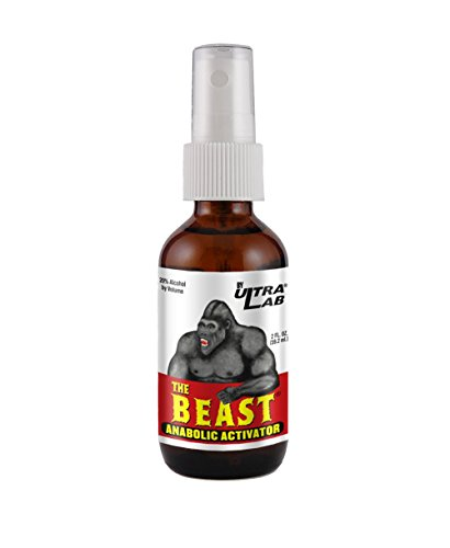 Muscle mass and strength builder. UltraLab The Beast Anabolic Activator, Oral Spray Formula, 2 Ounces