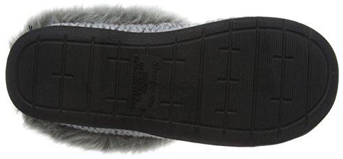 Dearfoams Chunky Novelty Knit Clog With Memorry Foam - Zapatillas bajas para mujer Gris (Light Heather Grey 00071)