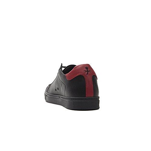 Pelle Made Nero Nero Rosso Castelbajac Scarpa Uomo in Italy in Stringata Sneaker HaHXpwq7