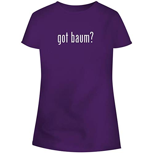 (One Legging it Around got Baum? - Women's Soft Junior Cut Adult Tee T-Shirt, Purple, X-Large)