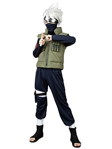 CosFantasy Kakashi Hatake Cosplay Costume mp000055 (Men L)