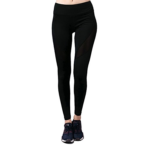 Barbok Yoga Pants High Waist Quick Drying Workout Leggings Exercise Fitness Capris Running Gym Athletic Tights (black,xl)