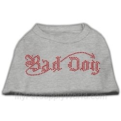 Dog Supplies Bad Dog Rhinestone Shirts Grey Xxxl(20), My Pet Supplies