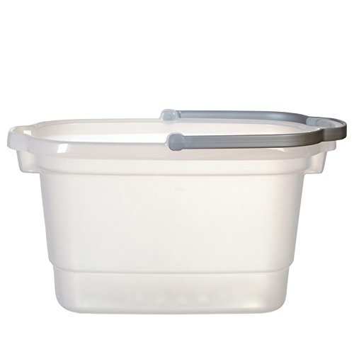 Casabella 62400 4-Gallon Rectangular Bucket, Translucent/Silver by Casabella ()