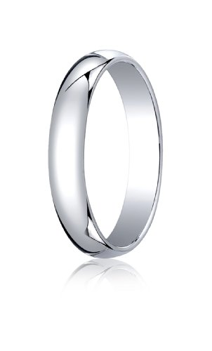 Mens 14K White Gold, 4.0mm Traditional Dome Oval Ring (sz (Mens 14k White Gold Designed)