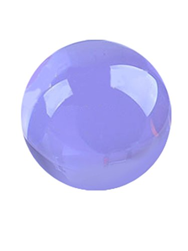 """Qwirly Multipurpose Glass Gazing Ball - Bright Feng Shui Gazing Sphere for Indoor or Outdoor Decor - Fits to Wind Spinners, Photo Booth Props and Party Decorations - 2"""" Diameter, Purple"""