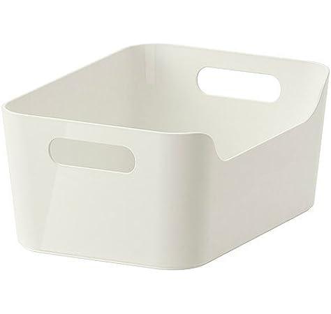 IKEA VARIERA Caja, alto brillo blanco, 24x17 cm - 301.550.19: Amazon.es: Hogar