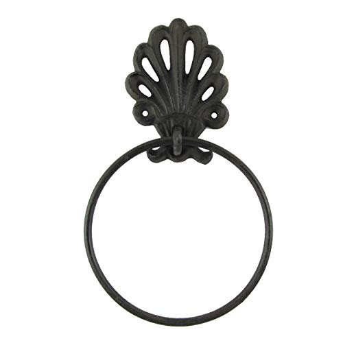 TG,LLC Ornate Metal Kitchen Bath Towel Holder Ring Bathroom Hanger Scroll Wall Decor ()