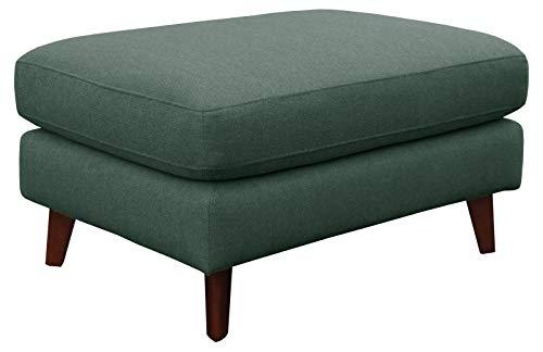 "Amazon Brand – Rivet Sloane Mid-Century Modern Ottoman, 31.9""W, Emerald Green"
