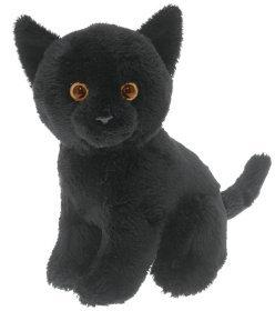 black cat soft and cuddly toy toys games. Black Bedroom Furniture Sets. Home Design Ideas