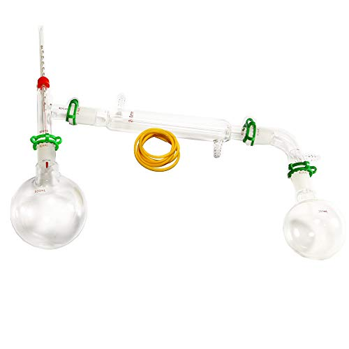 Dinglab,500ml Chemistry Lab Glassware Kit,glass Distilling,distillation Apparatus,24/40