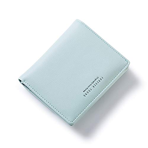 AnnabelZ Women Wallet Small Bifold Soft Leather Pocket Wallet Ladies Mini Short Purse with Removable Card Slot(Light Green)