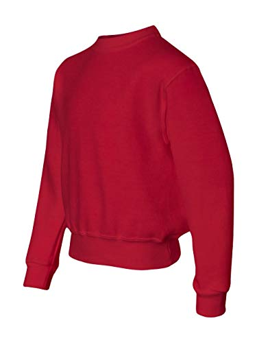 Jerzees 562B Youth NuBlend Crewneck Sweatshirt44; True Red - Medium