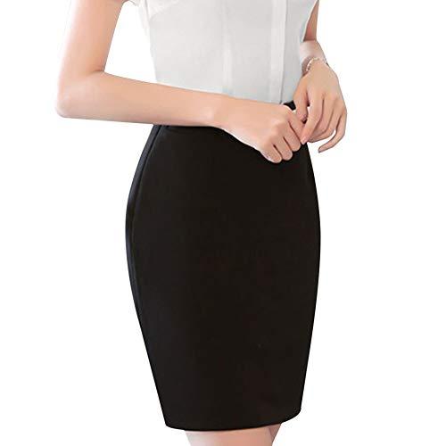 OL Business Bodycon Femme Taille Style Package Vertvie Bureau Courte Haute Noir Mini Hanche Jupe Moulante Caryon 0ddvYHq