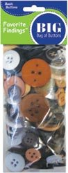 Replacement Buttons - Blumenthal Lansing Company Favorite Findings 4-Ounce Big Bag of Buttons, Natural